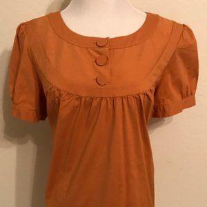 Ann Taylor Loft Orange Blouse